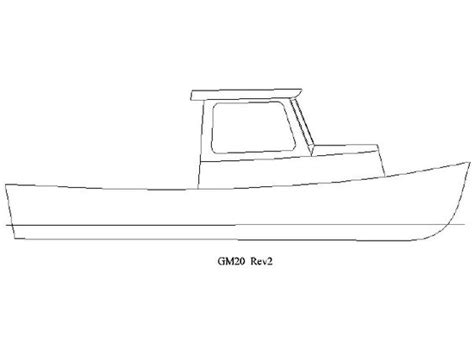 boat drawing pic lobster skiff clipart clipground