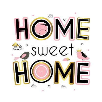 home sweet home stock illustration  image