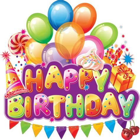 Balon Happy Birthday Car happy birthday elements cover balloons and cake vector 01