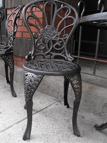 wrought iron finishing iron patio furniture vintage