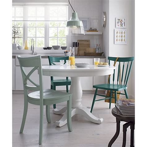 Crate And Barrel Kitchen Table by Avalon 45 Quot White Extension Dining Table Crate And Barrel