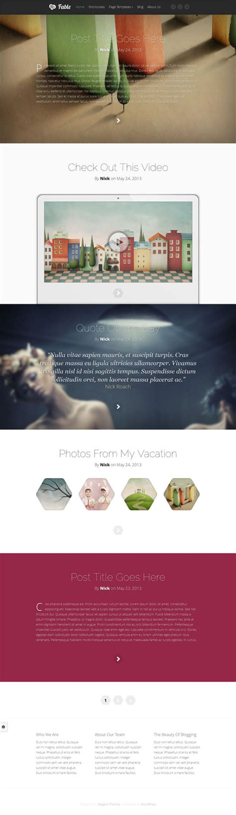 wordpress blog themes elegant fable review elegant themes worth