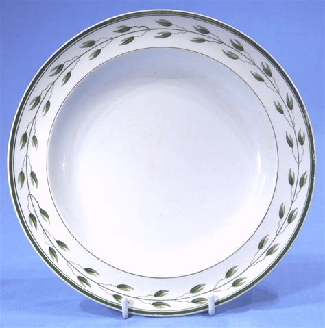 plate patterns wedgwood green leaf creamware vintage tea plate pattern