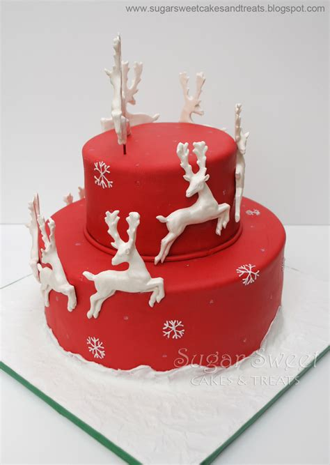reindeer and sleigh cake cakecentral com