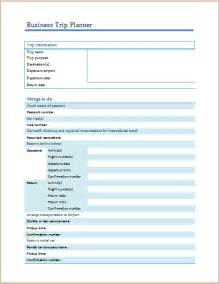 ms word business trip planner template formal word templates