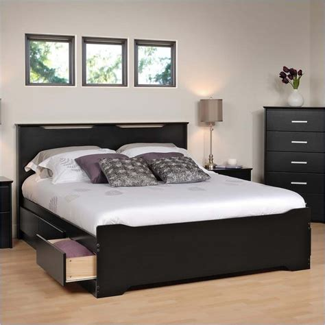 prepac queen platform storage bed with 6 drawers prepac coal harbor queen size mate s platform storage bed