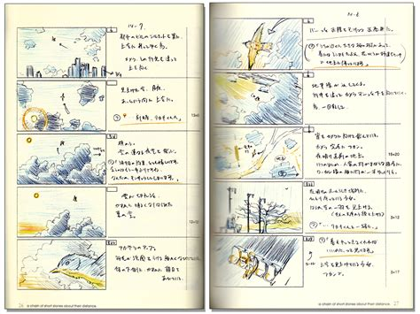 picture book storyboard makoto shinkai 5 centimeters per second and others story