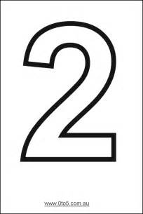 Number Template by Number Two Printable Template αριθμοι
