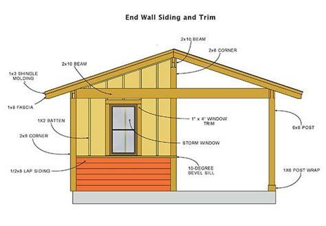 shed plans blueprints  large cabana style shed
