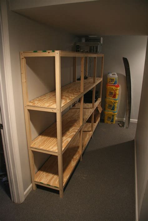 how to put up shelves basement shelves