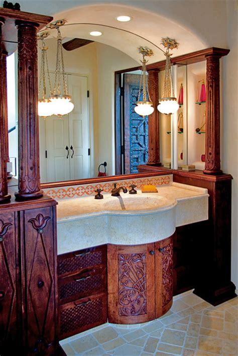 moroccan vanity santa fe nm mediterranean bathroom