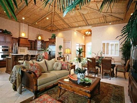 hawaiian themed living room tropical home decor ideas with vintage design living room colonial style