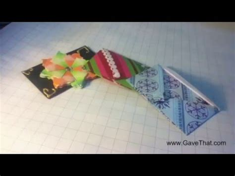 Origami Money Holder - how to origami gift card holder envelope easy tutorial