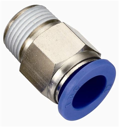 Pnuematic Push In Fitting 12mm X 10mm Union china high quality pneumatic fittings with bspp bspt npt