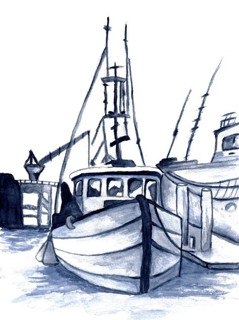 how to draw a boat in ms paint fishing boat drawing at getdrawings free for