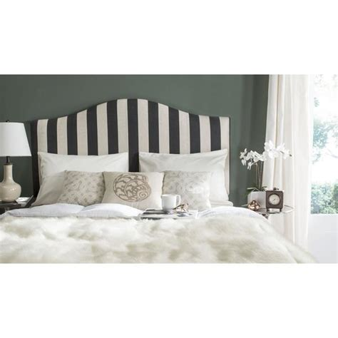 Script Nailhead Upholstered Headboard Full Queen Target Black And White Striped Headboard