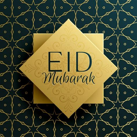 Eid Card Template by Eid Mubarak Greeting Card Template Design With