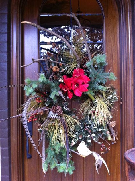 front door wreath christmas creations pinterest