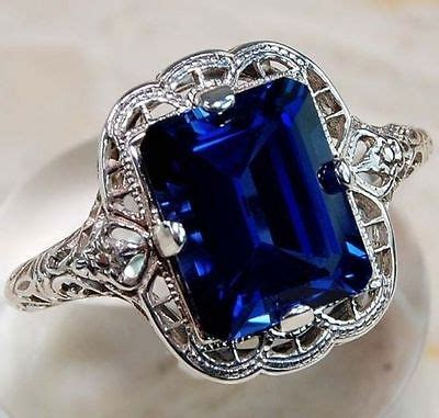 Cincin 3 5ct Blue Sapphire Fashion 925 Silver Wedding Engagemen 3 5ct princess cut blue sapphire 925 silver wedding engagement ring size9 cad 3 10
