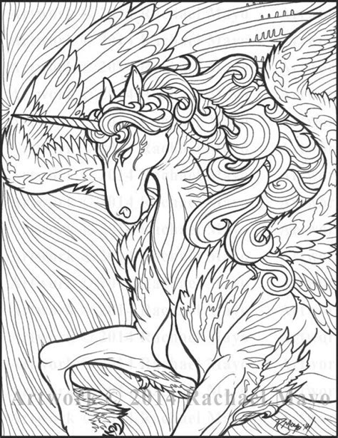 unicorn coloring book for adults 20 free printable unicorn coloring pages for adults