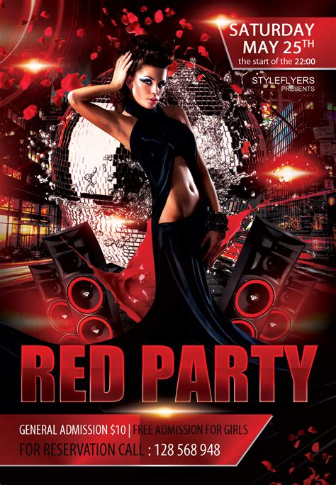 free templates for nightclub flyers free red party flyer psd template styleflyer com club