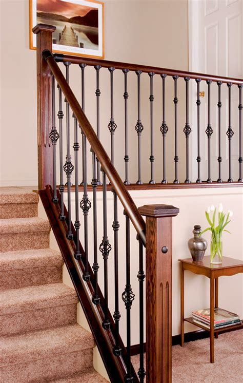wood banisters and railings interior railing kits smalltowndjs com
