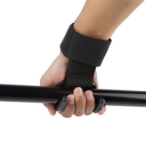 Tangan Angkat Beban Crossfit Wrist Support tangan angkat beban adjustable hook grip weight lifting strength black