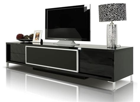 brighton black lacquer entertainment center modern