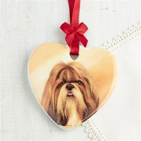i my shih tzu quot i my quot shih tzu ornament signs ornaments home decor