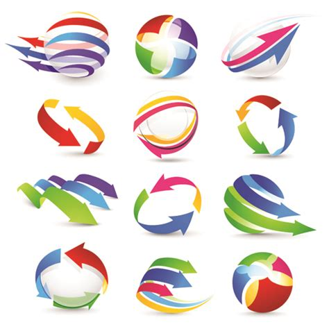 free logo design elements vector vector logo of abstract arrow design elements 06 vector