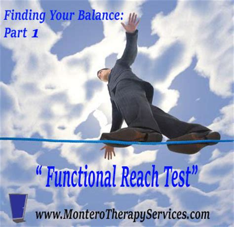 Reach Your Balance finding your balance part 1 the functional reach test