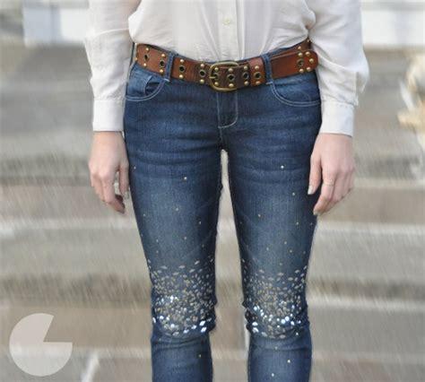 como decorar unos jeans pantalones con pedrer 237 a