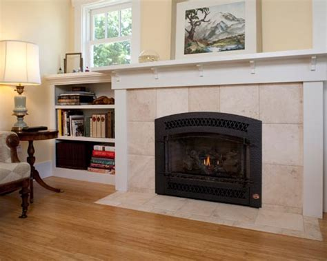 Instant Fireplace by Seattle Craftsman Home Rebuild Ventana Construction