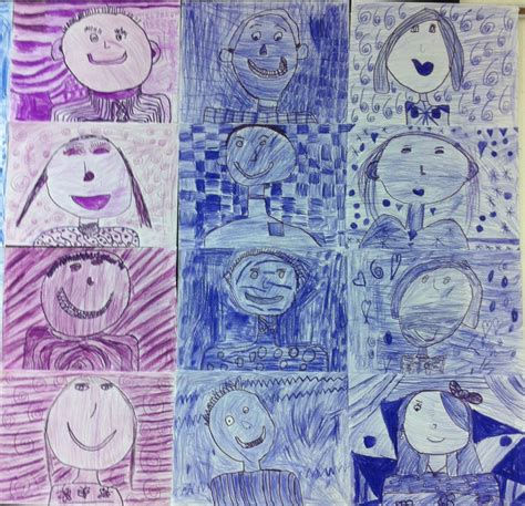 apex pattern works apex elementary art colorful second graders