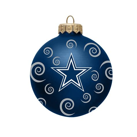 nfl dallas cowboys ball ornament with swirls