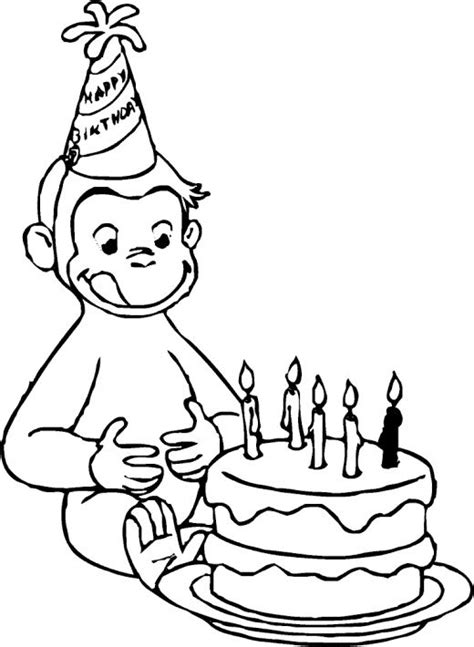 Curious George Coloring Pages Birthday | george strait coloring pages coloring pages