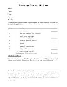 Landscape Bid Forms Best Photos Of Landscaping Contract Forms Landscape