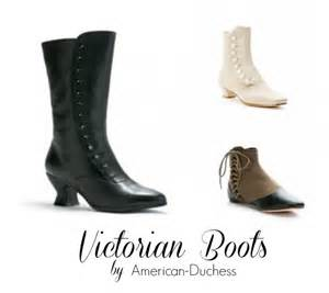 Victorian reproduction boots and shoes by american duchess