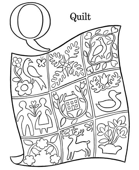 Quilt Square Coloring Page Az Coloring Pages