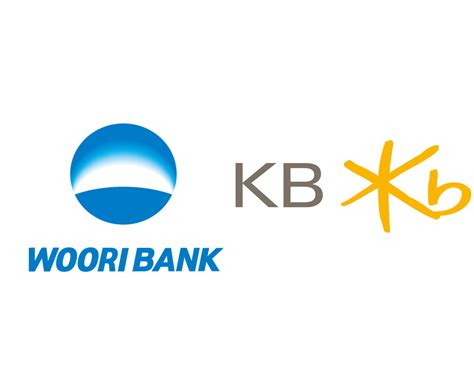 kb bank woori bank kookmin bank logos jpg businesskorea