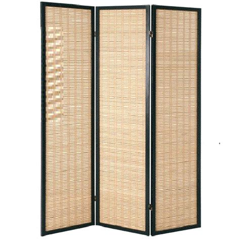 bamboo black room divider with wood 3 panel 1357 furniture