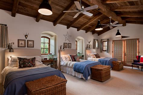 french country estate mediterranean bedroom phoenix