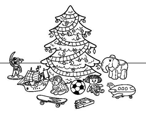 arboles de navidad dibujo dibujo de 193 rbol de navidad y juguetes para colorear