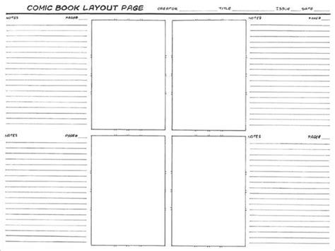 book layout template pdf comic storyboard template 8 free word excel pdf ppt