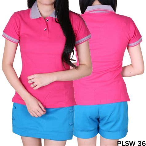 Kaos Polos Pendek Pink kaos modis wanita lengan pendek cotton pique pink fanta