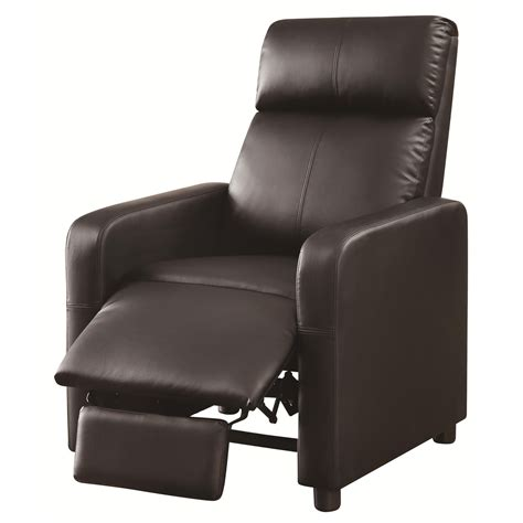 recliner cinema coaster furniture 600181 recliners theater seating push