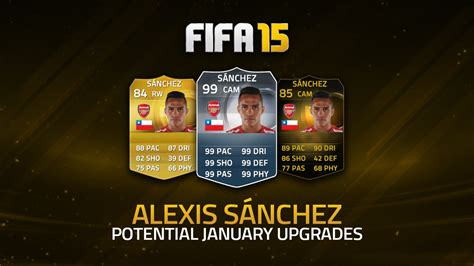 alexis sanchez ultimate team price potential upgrades alexis s 193 nchez fifa 15 ultimate