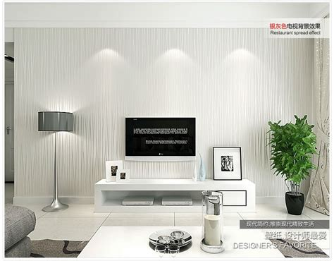 silver grey wallpaper living room 56 sqf 10m roll modern simple style silver grey strips