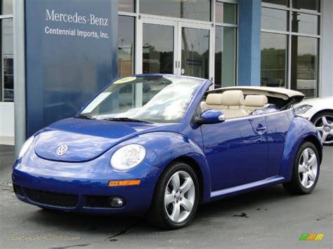 blue volkswagen convertible 2007 volkswagen new beetle 2 5 convertible in shadow blue