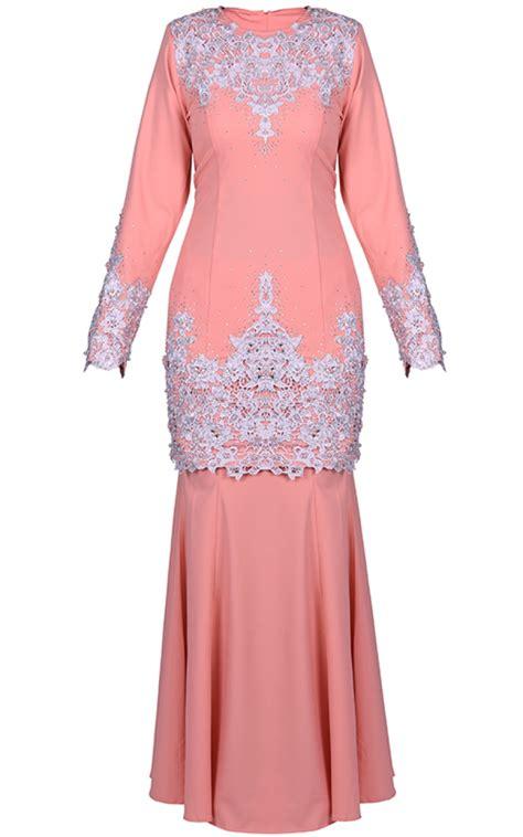 Baju Melayu Light baju kurung mini habi light salmon baju kurung